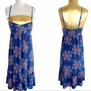 Ecote UO dress strap plunge neckline flower print